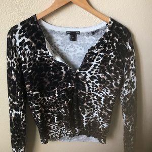 H&M Leopard Cardigan
